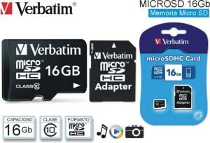 Schedine memoria SD e microSD KINGSTON o VERBATIM